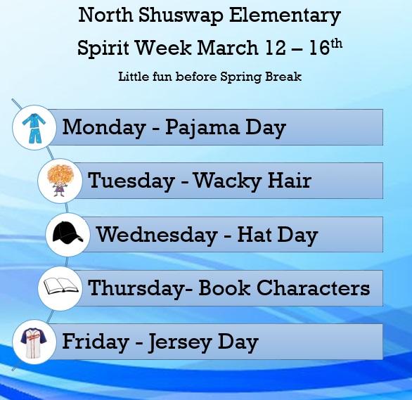 Spirit Week Poster Website